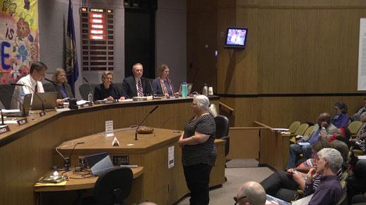 Susan Bro addressing Charlottesville City Council