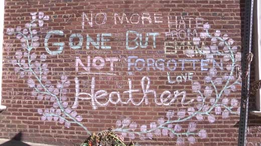 4th Street memorial for Heather