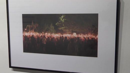 Photograph of the torchlit rally