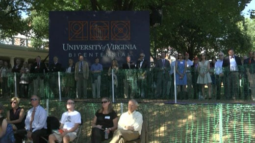 Bicentennial celebration at UVA