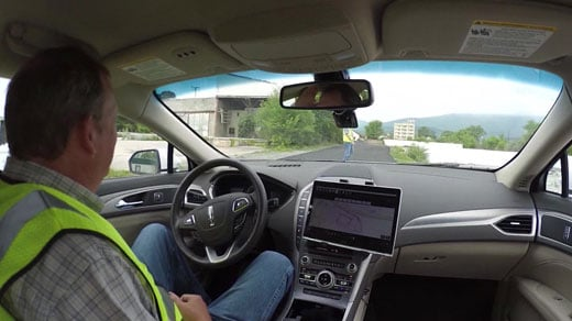 Inside of the driverless car