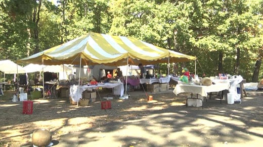The yard sale, held at Mt. Olivet Church