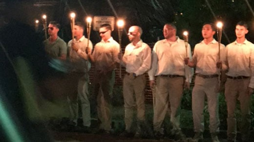 White nationalists at Emancipation Park on Oct. 7