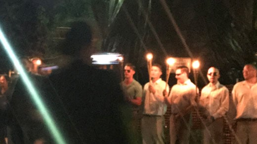 White nationalists at the Lee statue