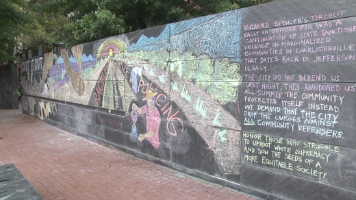 The mural on the Downtown Mall