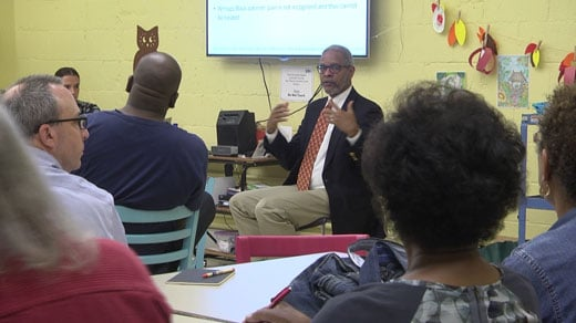 Dr. Oliver at Jefferson School