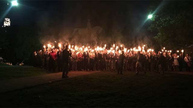 Torch-lit rally, May 13, 2017.  Photo courtesy of the Associated Press