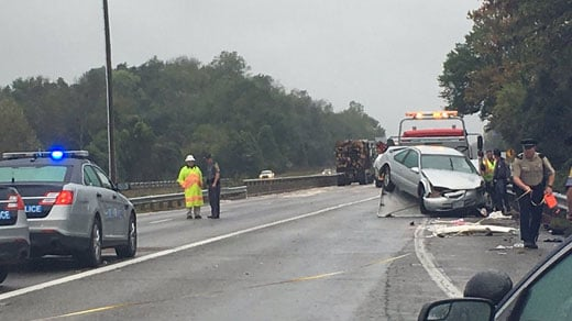 Accident on I-64 in Albemarle County Causes Lane Closures
