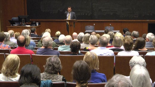 Kristof spoke at UVA on Monday, October 23