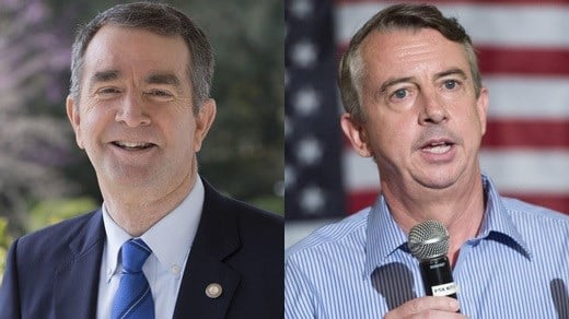Ralph Northam (Left) and Ed Gillespie (Right)