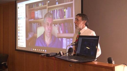 Legal experts hold a press conference at CitySpace, claiming that Jens Soering is not guilty of murder