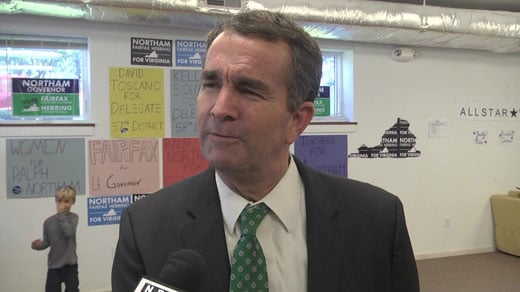 Ralph Northam at his Charlottesville field office