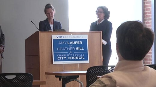 Heather Hill and Amy Laufer held a press conference on 10/31