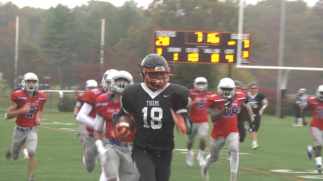 Woodberry Forest's Khalid Thomas goes 94-yards on this touchdown reception