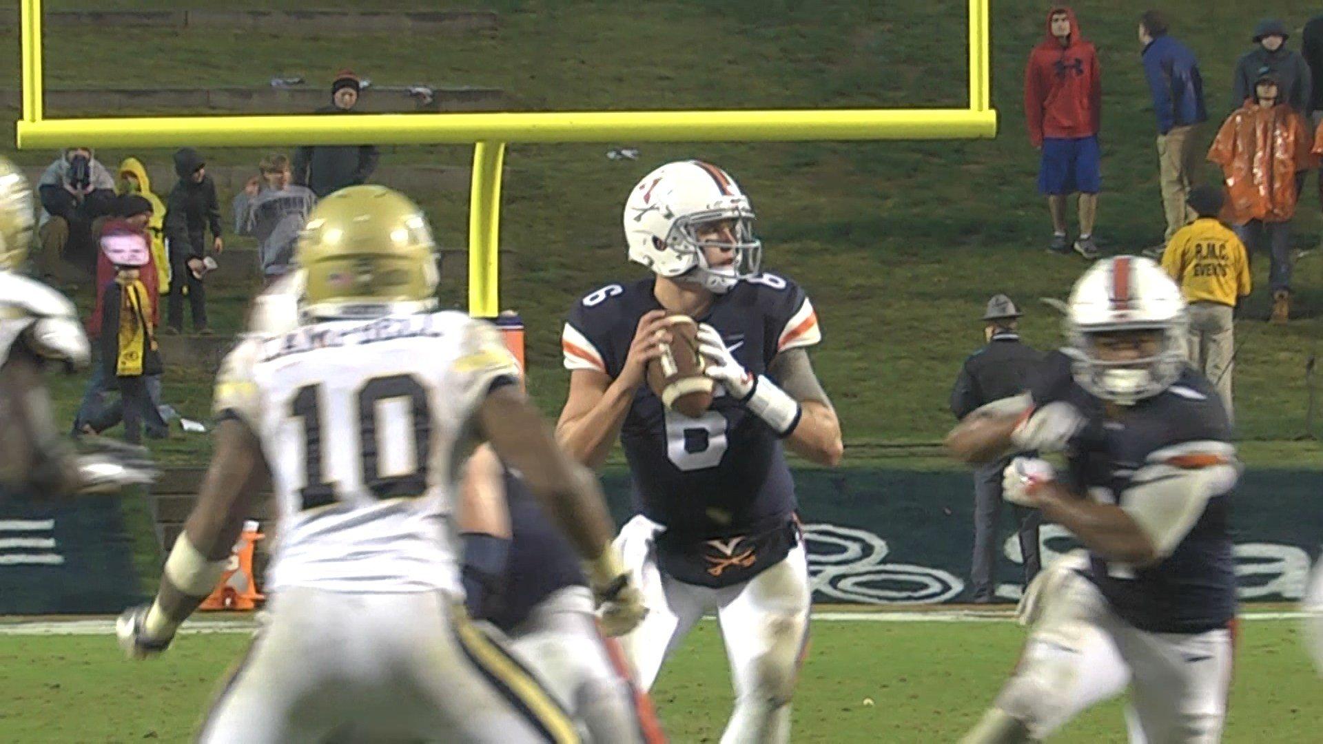 Kurt Benkert passed for 260 yards and three touchdowns in UVa's victory