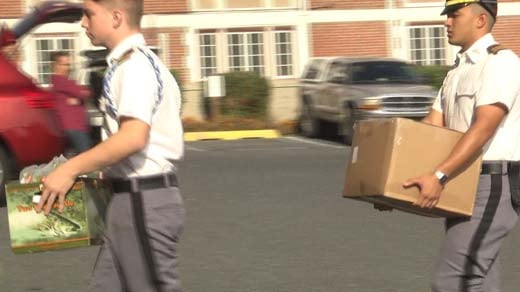 Cadets are sending boxes of supplies to the Virgin Islands