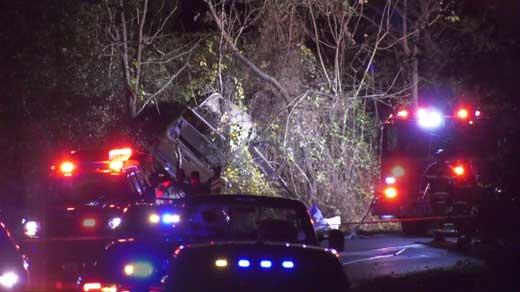 Crews on the scene of fatal crash along Garth Road in Albemarle County