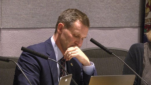 Mike Signer at Council meeting