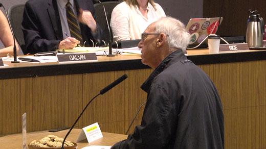 Jeff Fogel speaking at Council meeting