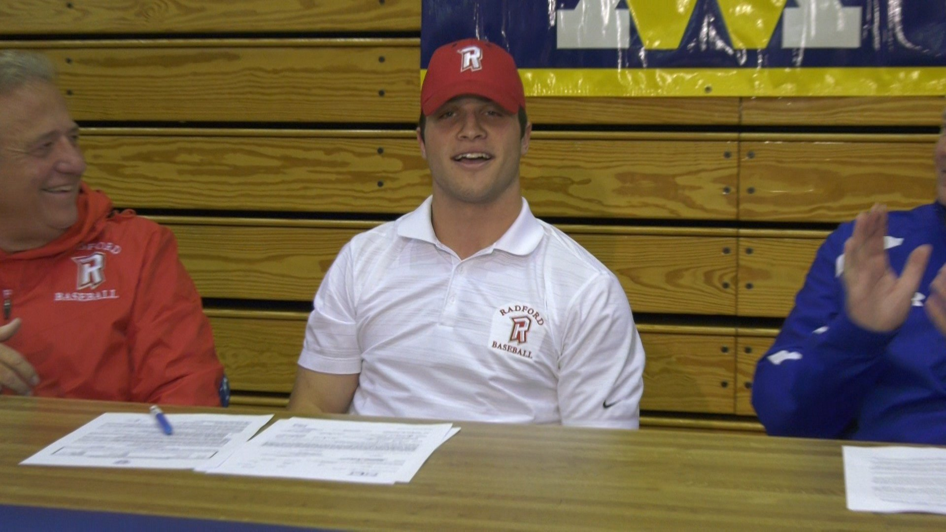 Derek Domecq signs with Radford baseball