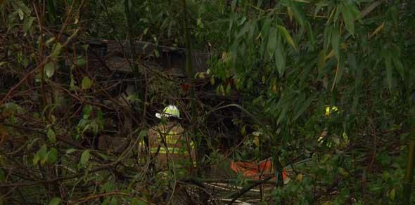 crash scene off Monacan Trail