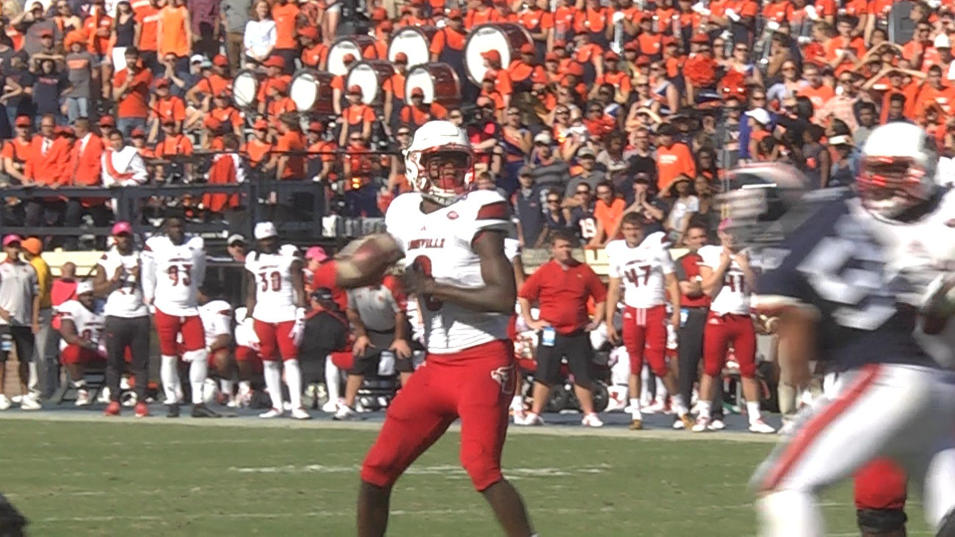 Lamar Jackson had four touchdowns passes in the win against Virginia in 2016
