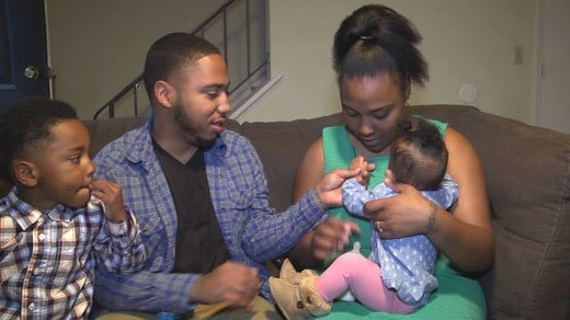 Trent and Damonia Lee with their children