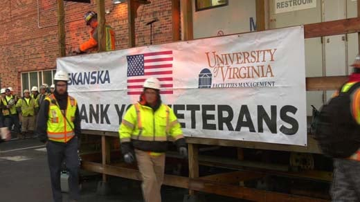 Veterans were treated to a free breakfast