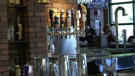 Beer on tap at World of Beer