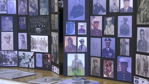 The Jefferson School highlighted African-American servicemembers