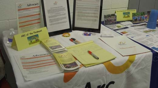 Parents with children with special needs attended the information fair