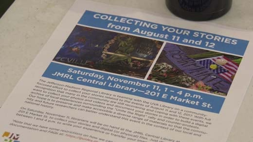 The library hopes to preserve people's memories of the weekend