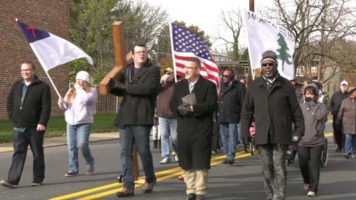 The Unity Walk, held in Staunton