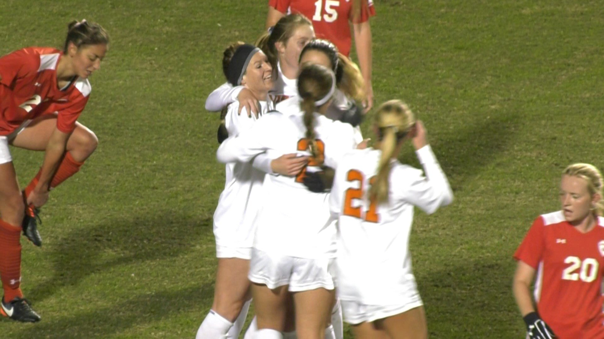 Veronica Latsko opened the scoring for UVa in the 23rd minute
