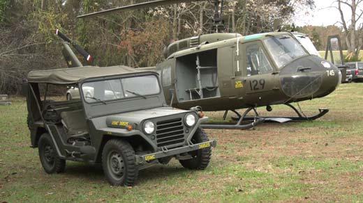 A Huey and a Jeep