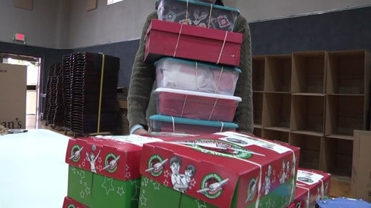 Donations for Operation Christmas Child