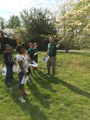 Kids enjoying Arbor Day in Staunton