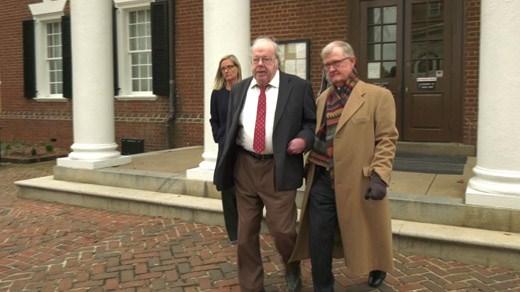 Walter F. Korte Jr. (CENTER) leaving Albemarle Circuit Court