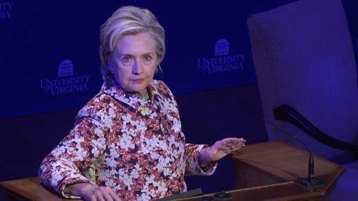 Hillary Clinton at the UVA women's forum