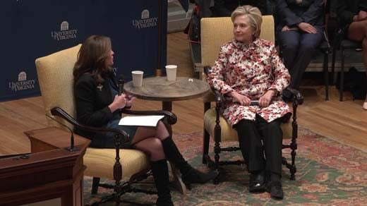 Clinton says more women need to enter politics to combat sexism
