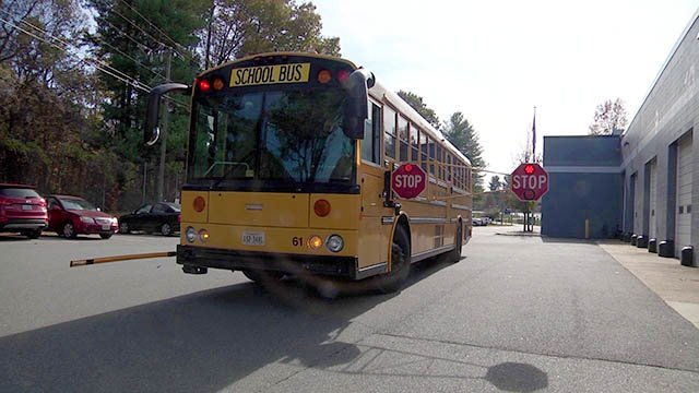 Extended Stop Sign Arms On Albemarle County School Buses