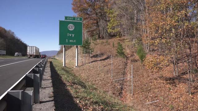 The 8-foot fence near the Ivy exit on I-64