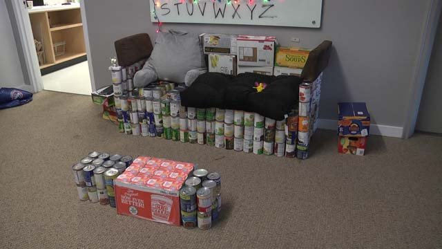Another team's canned goods creation