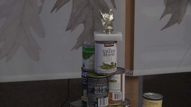 Teams were given the task to create something out of cans