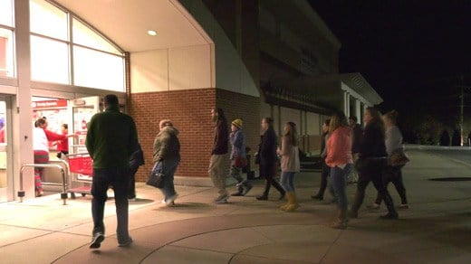 Shoppers arrive early for Black Friday deals at Target in Albemarle County