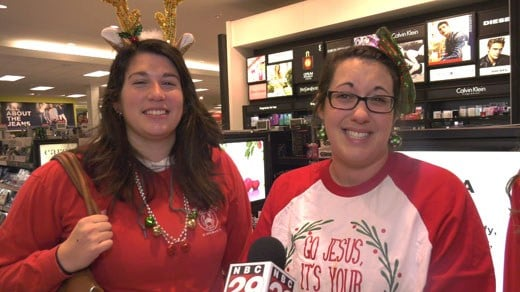 Theresa Lovdal (RIGHT) and her friends like to have some fun on Black Friday