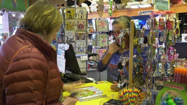 Shoppers in Charlottesville on Small Business Saturday