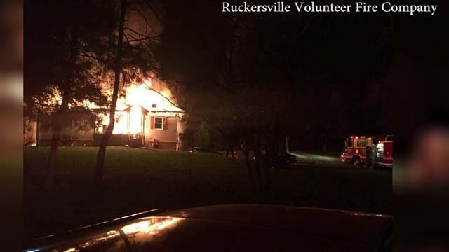 The house fire on Greenwood Farms Road