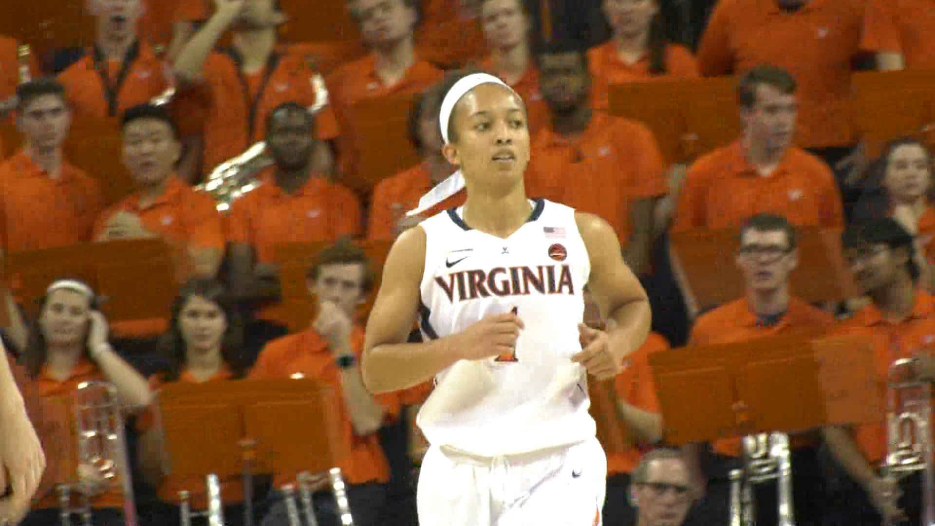 Former STAB star Brianna Tinsley had 3 points and 3 assists in 19 minutes for UVa