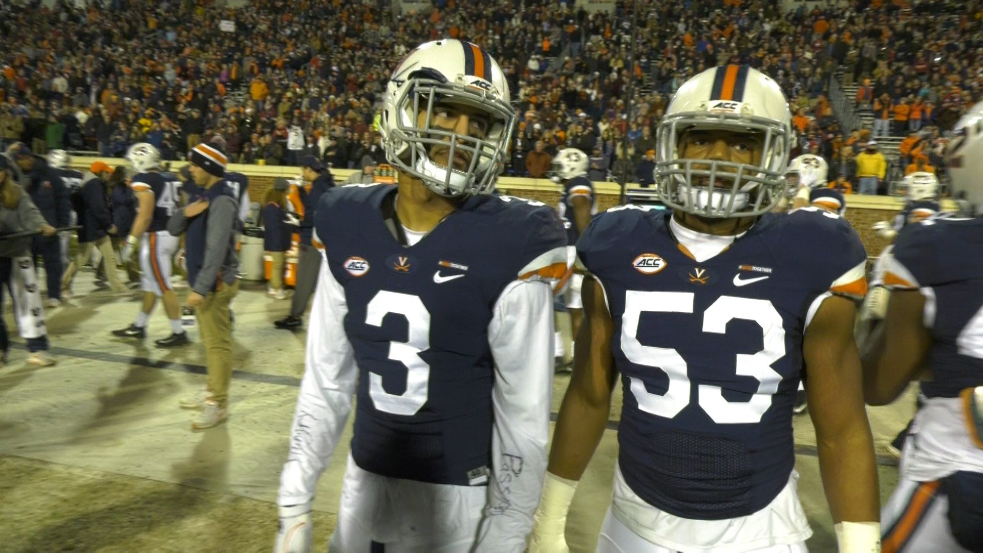 Quin Blanding (left) and Micah Kiser (right)